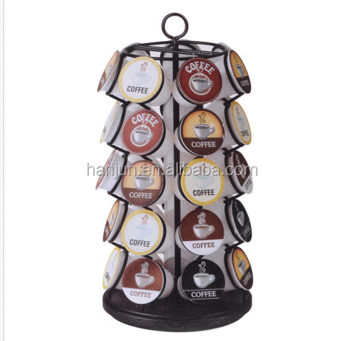 k cup coffee pod storage drawer holder/K-CUP CAROUSEL - HOLDS 35 K-CUPS IN BLACK