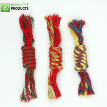 Pet Durable colorful cotton dog rope toys puppies