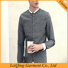 2016 latest style purity long sleeve white collar latest men collar designs