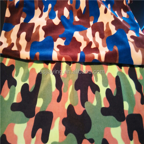 Printed spandex Ef velboa ,super soft velvet for baby garment and lady leggings