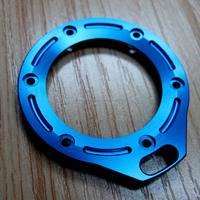 OEM custom made blue anodized 6061-t6 aluminum cnc machining parts for watch case