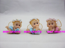 Resin colorful small angel gifts-#MPBA0043