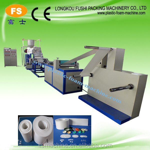 Hot!! Polyethylene LDPE cap liner foam sheet Gasket extrusion Machine