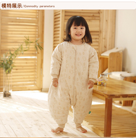 100% organic cotton detachable sleeve child footed sleepsack style legs apart baby sleeping bag