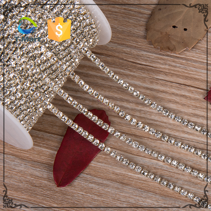 Factory Sale Wedding Dress Decoration SS6~SS38 Silver Crystal Empty Cup Chain