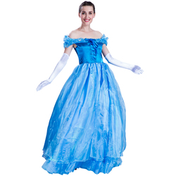 deluxe adult women girls Cinderella princess dress costumes for party