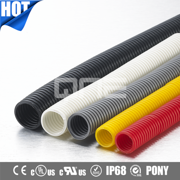 Factory CE ROHS Nylon Waterproof Flexible Corrugated Conduit With PONY
