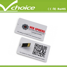 promotion gift flat card usb flash drive