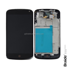Original Hot sell LCD Display Touch Screen Digitizer Assembly with Frame For LG Nexus 4 E960