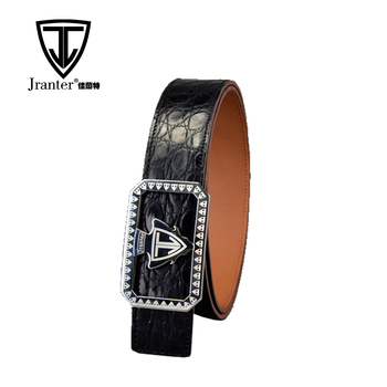 New Fashion Crocodile Leather Belt Manufacturer, Alligator Leather Belt For Men