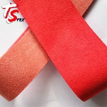 new product faux shearling thin perforated suede fabric
