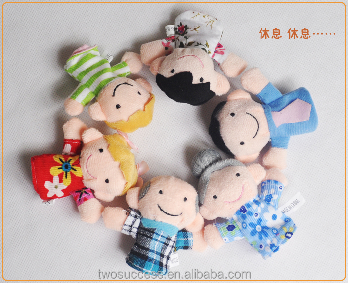 Animal Customized Soft Plush Hand Toy Doll Cartoon Cute Finger Puppet Dolls