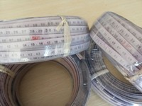 7/0.2 conductor Polyethlene sheath 0-50M steel ruler tape cable,flat water resistant cable for oil level indicator seris