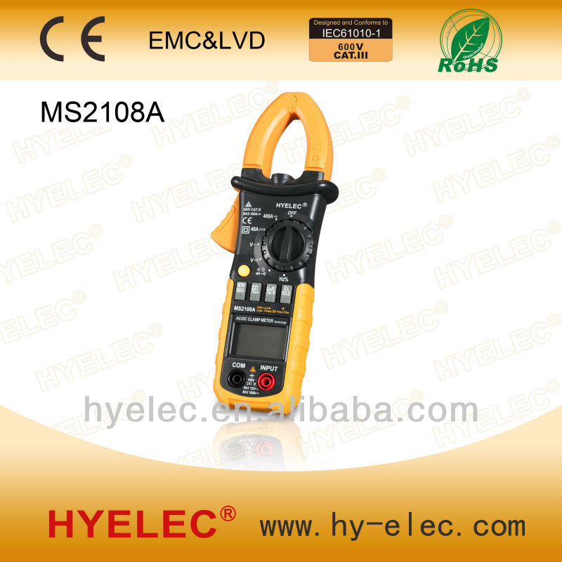 MS2108A AC/DC MINI Digital Clamp Meter