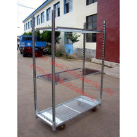 Display Flower Trolley.Display Cart.Plants Trolley. Mesh Cart .Steel Roll Trolley Garden Tool cart TC0902C