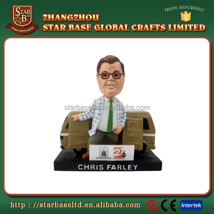 Welcome OEM custom shaking head polyresin action figure