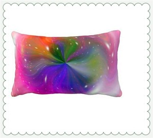 oblong cotton decorative body pillow heat transfer printed