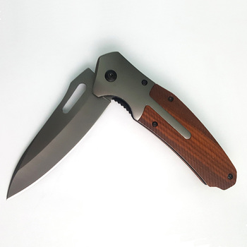 High quality 3cr13 stainless steel blade hunting knife with wood handle