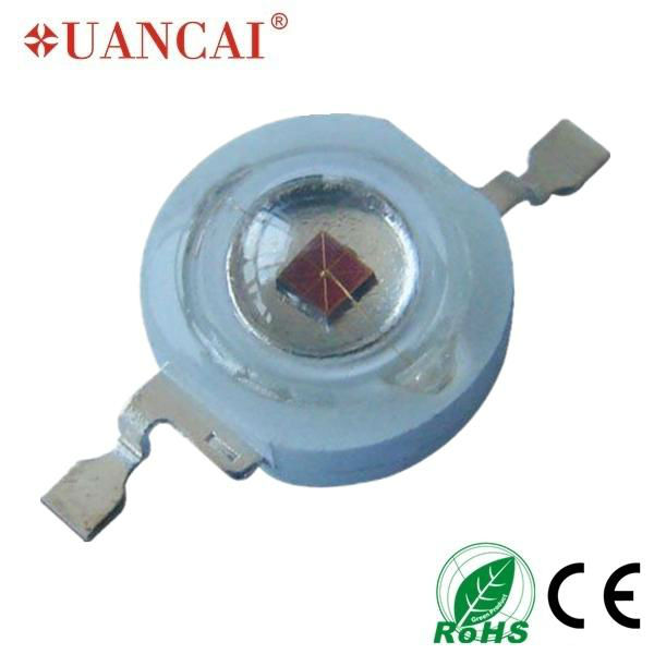 30-40lm 1w light emitting diode with heat sink