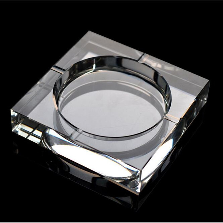 white clear luxury square K9 crystal/glass ashtray for sale