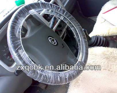 ZX produce disposable plastic steering wheel cover/seat cover for car