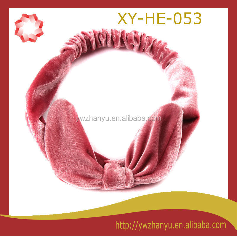 fashion rabbit ear elastic headband women hair accessory