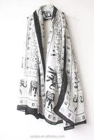 New ladiesvoile sun beach animal printed shawl and scarf