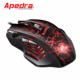 Apedra OEM popular optical wired USB gaming mouse ergonomic led lighting mouse for professional gamer