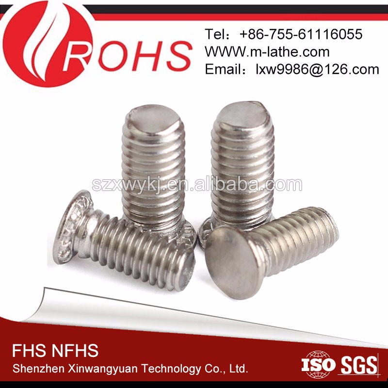 Round head stainless steel Self clinching Studs