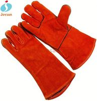 welding leather work gloves reinforced led glove light