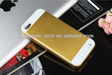 New 3500mah metal battery case for iPhone 5s rechargeable battery charger case for iPhone 5 manufactory