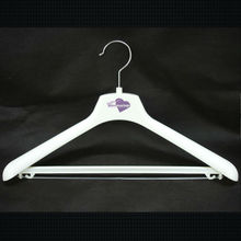 HRH-006 rubber coated coat hanger wedding dresses use hangers white plastic