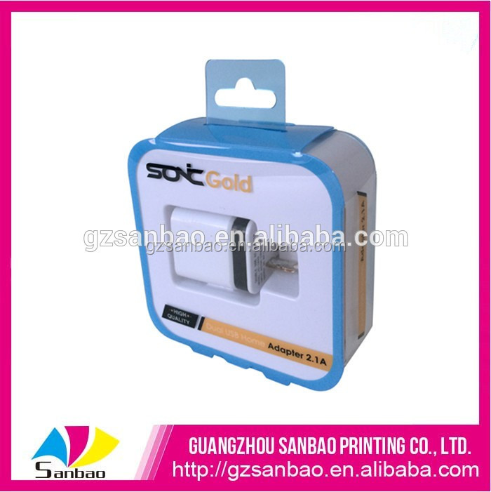 transparent plastic box plastic packaging box for cell phone accessories