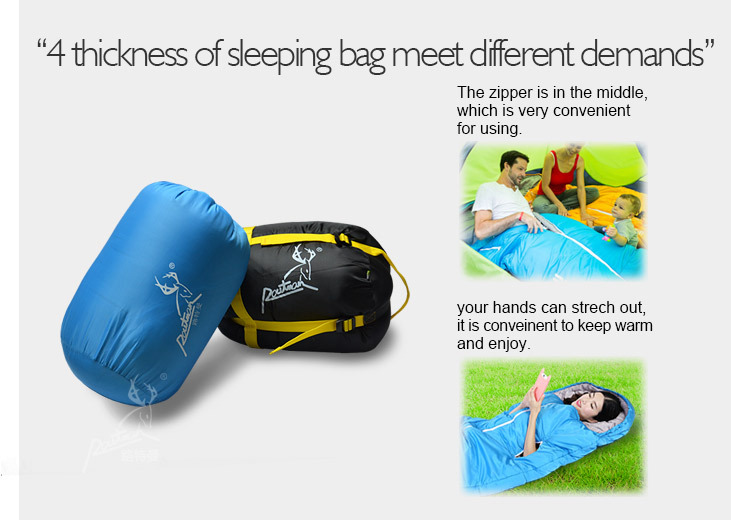 Opening In The Middle Your Hands Can Strech Out Sleeping Bag