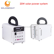 Portable small house emergency solar energy power lighting home system 12V 20W off grid mini project solar generator