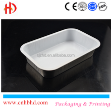 Food packing smooth wall aluminum foil container for airline
