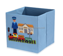 High Quality Home Storage Box Oxford Foldable Storage Cube Basket Bin Fabric Lined Storage Boxes