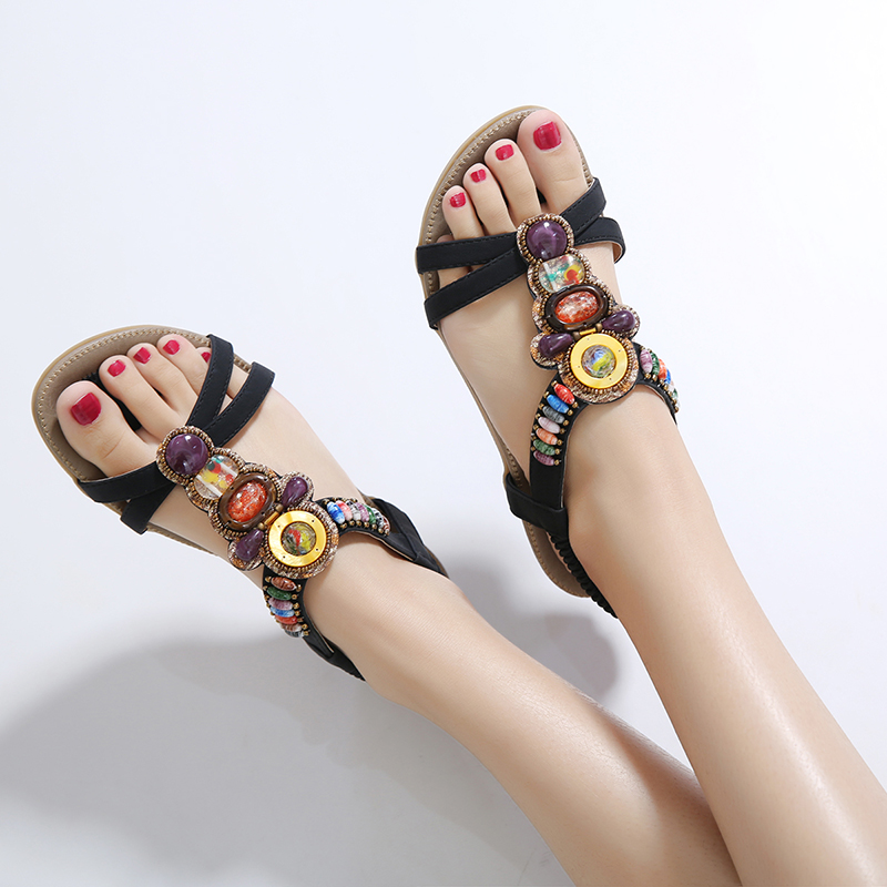 New product low price diamond flat sandals for women