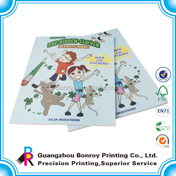 Wholesale Custom Offset printing child cartoon color filling book