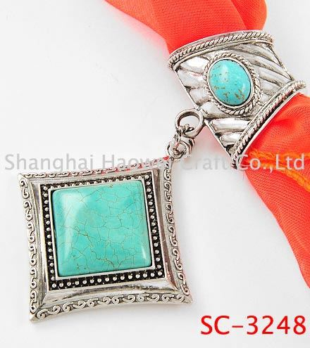 SC-3248 Best selling novel design agate pendant scarf jewelry made in china