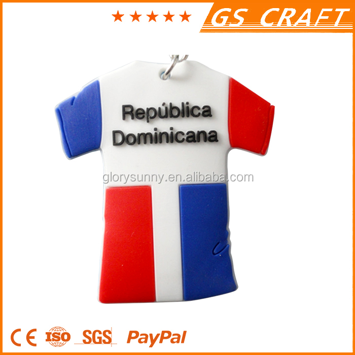 2016 popular unique polo shirt /sport shirt silicone keychain/colorful shirt keychain