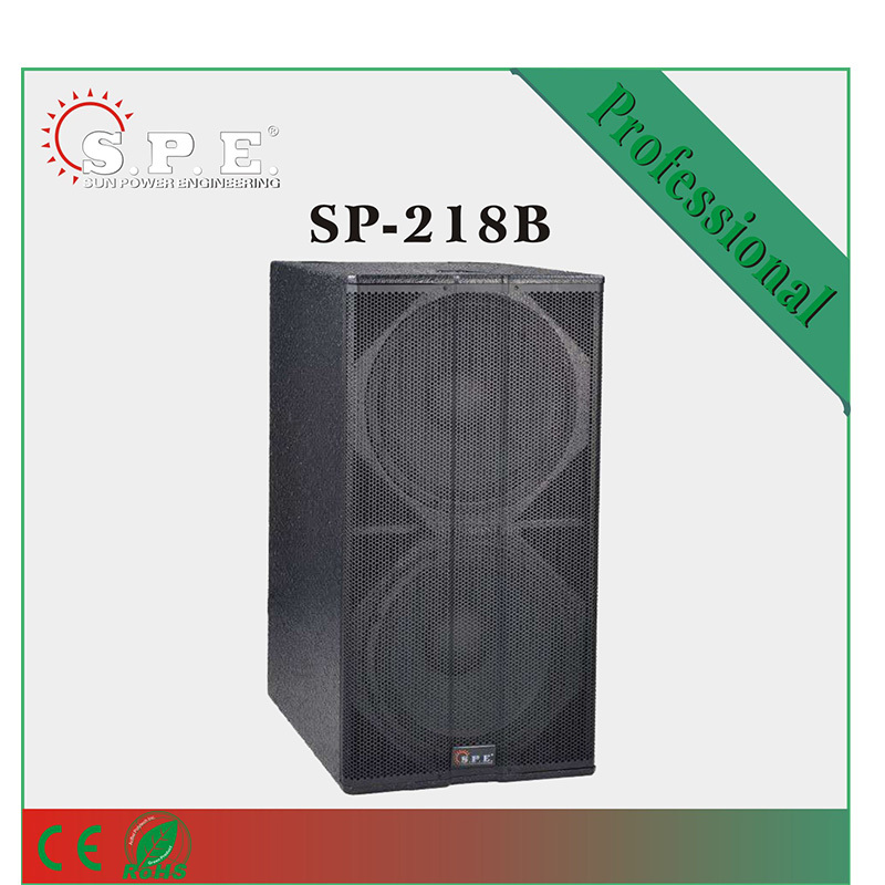 "SPE audio dual 18"" 1600W neo driver professional speaker super bass PA subwoofer"