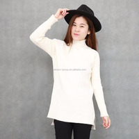 Custom Wholsale Pullover Women High Neck