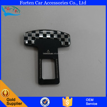 Universal Metal Real Carbon fiber car logo safety seat belt buckle