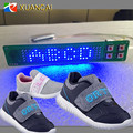 New Style Flashing Luminous Letters Running Text Flexible LED shoes Light from Factory in China
