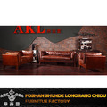 Classic retro genuine leather sofa/Vintage chesterfield leather sofa set A130