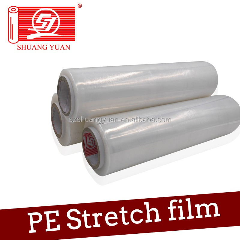 2016 SY Packaging Environment Friendly Plastic Clear PE Stretch Wrap Film