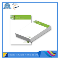 Custom printed letterhead a4 with logo printing for company