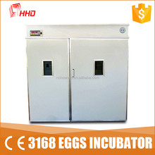 3168 eggs CE approved automatic large capacity egg incubator industrial for chick for sale 2016