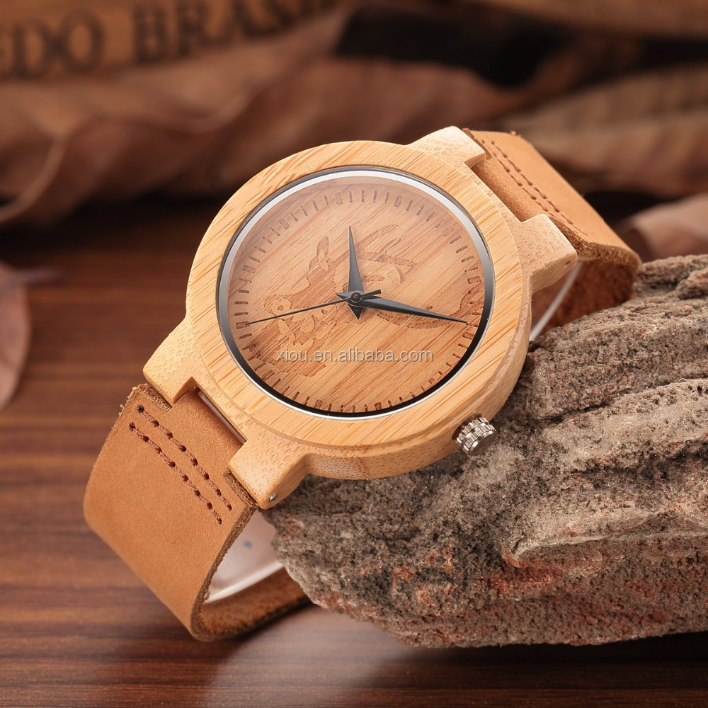 Factory Cheap Price Wood Man Watches Casual Quartz Bamboo Men Lady Watch